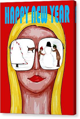 Happy New Year 51 Canvas Print by Patrick J Murphy