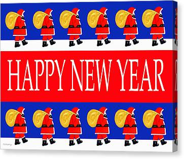Happy New Year 7 Canvas Print by Patrick J Murphy
