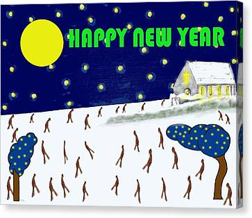 Happy New Year 79 Canvas Print by Patrick J Murphy
