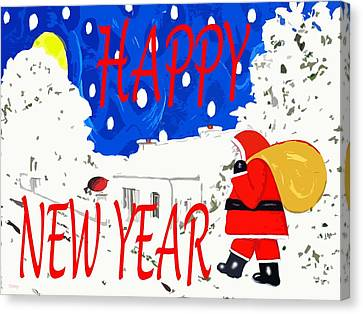 Happy New Year 82 Canvas Print by Patrick J Murphy