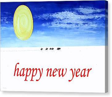 Happy New Year 90 Canvas Print by Patrick J Murphy