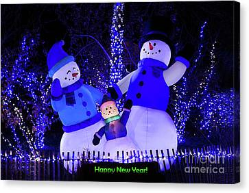 Happy New Year Canvas Print by Andrea Silies