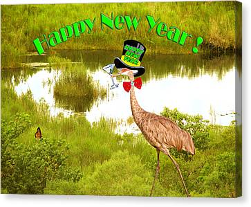 Happy New Year Card Canvas Print by Adele Moscaritolo
