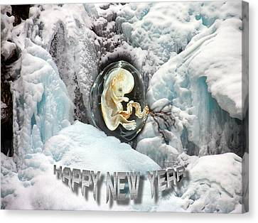 Happy New Year Canvas Print by Otto Rapp