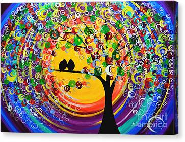 Happy Night Canvas Print by Mariana Stauffer