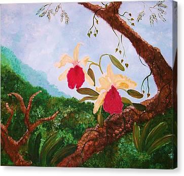 Happy Orchids Canvas Print by Alanna Hug-McAnnally