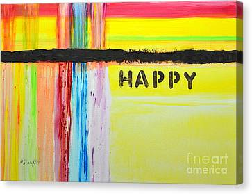 Happy Painting Canvas Print by Mariana Stauffer