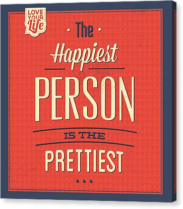 Happy Person Canvas Print