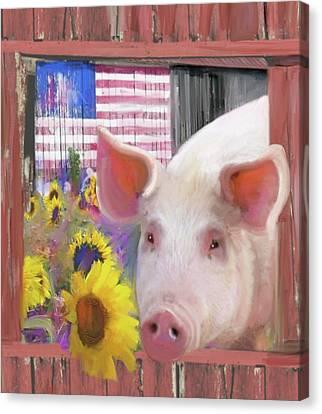 Happy Pig  Canvas Print