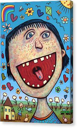Pill Canvas Print - Happy Pill by James W Johnson