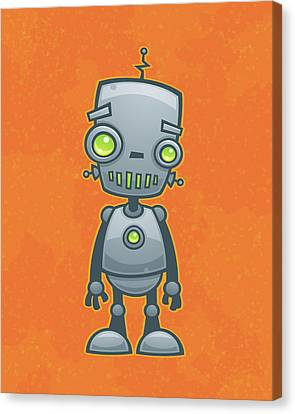 Happy Robot Canvas Print by John Schwegel