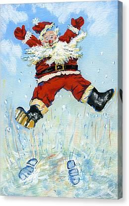 Happy Santa  Canvas Print by David Cooke