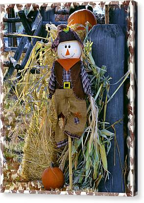 Bales Canvas Print - Happy Scarecrow by Kae Cheatham