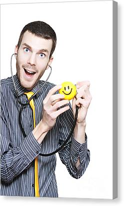 General Concept Canvas Print - Happy Smiling Paediatrician Making Hospital Fun by Jorgo Photography - Wall Art Gallery