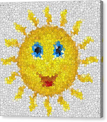 Happy Sun Glass Mosaic Canvas Print by Miroslav Nemecek
