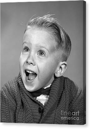 Happy, Surprised Boy, C.1960s Canvas Print by H. Armstrong Roberts/ClassicStock