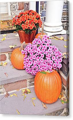 Canvas Print featuring the photograph Happy Thanksgiving by Ann Murphy