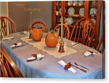 Happy Thanksgiving Canvas Print by Joan Bertucci