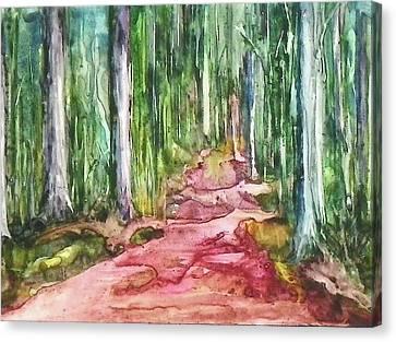 Happy Trail Canvas Print by Anna Ruzsan