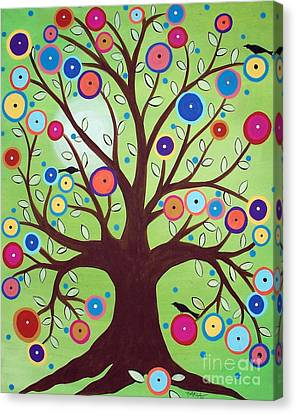 Happy Tree Canvas Print by Karla Gerard