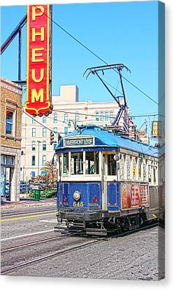Happy Trolley Canvas Print by Suzanne Barber