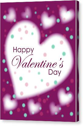 Happy Valentine's Day Canvas Print by Hye Ja Billie