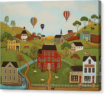 Happy Valley Canvas Print by Mary Charles