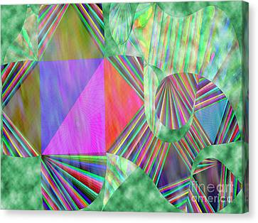 Happy Vibes Abstract Canvas Print by Linda Troski