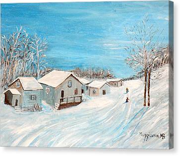 Happy Winter Canvas Print