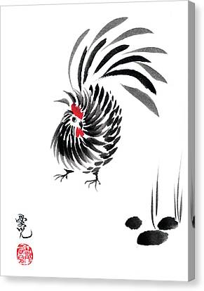 Happy Year Of The Rooster Canvas Print by Oiyee At Oystudio