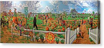 Harbe's Family Farm Canvas Print by Bonnie Siracusa