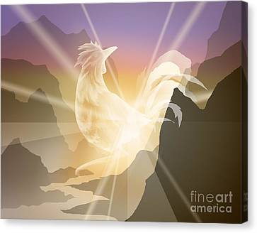 Harbinger Of Light Canvas Print