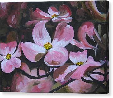 Harbinger Of Spring Canvas Print by Outre Art  Natalie Eisen