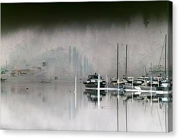 Harbor And Boats Canvas Print