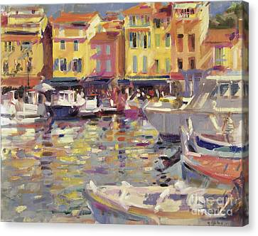 Harbor At Cassis Canvas Print by Peter Graham