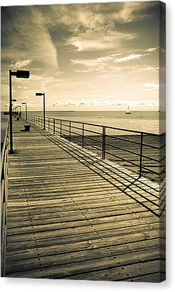 Harbor Beach Michigan Boardwalk Canvas Print