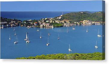 Harbor Blues Canvas Print by Stephen Anderson