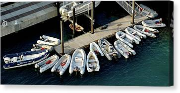 Harbor Boats Canvas Print