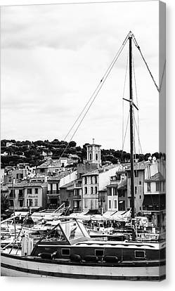 Harbor Boats In The South Of France Canvas Print by Georgia Fowler