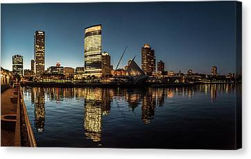 Canvas Print featuring the photograph Harbor House View by Randy Scherkenbach