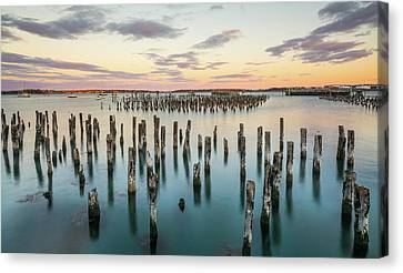 Harbor In Portland Maine Canvas Print by Marlon Mullon