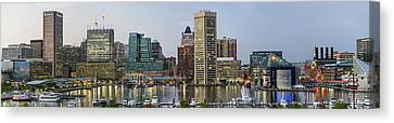 Harbor Lights - From Federal Hill - Color Pano Canvas Print by Brian Wallace