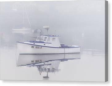 Mid-coast Maine Canvas Print - Harbor Mist   by Expressive Landscapes Fine Art Photography by Thom