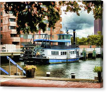 Harbor Park Ferry 5 Canvas Print