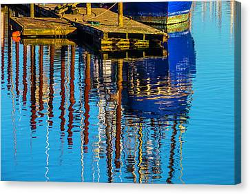 Pacific Coast States Canvas Print - Harbor Reflections by Garry Gay