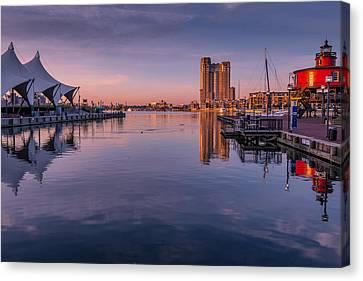 Harbor Reflections Canvas Print