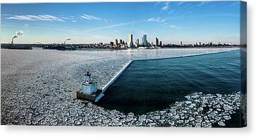 Canvas Print featuring the photograph Harbor Sentinel by Randy Scherkenbach
