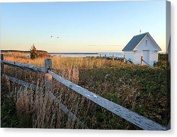 Harbor Shed Canvas Print by Bill Wakeley