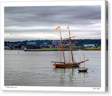Canvas Print featuring the photograph Harbor Ships by Richard Bean