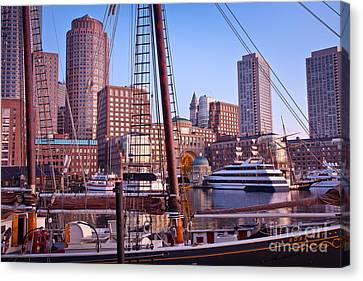 Harbor Sunrise Canvas Print by Susan Cole Kelly